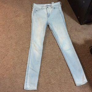Hollister super skinny light jeans